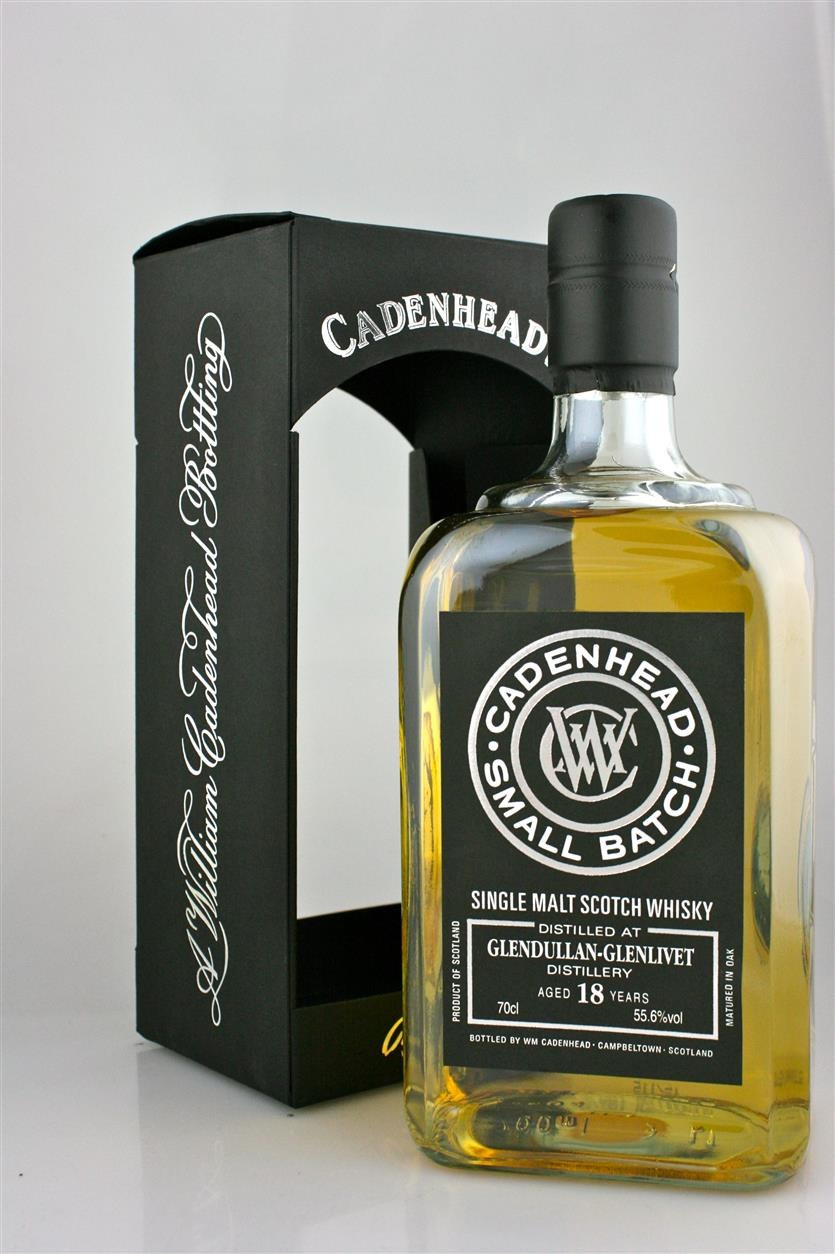 GLENDULLAN 18 YEAR OLD SPEYSIDE SINGLE MALT, CASK STRENGTH AT 55.6% BY CADENHEAD (SINGLETON)