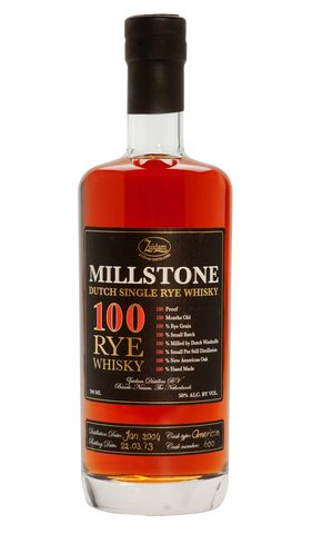 MILLSTONE 100 RYE WHISKY  - Rated at 93 points, no. 3 in top 10.