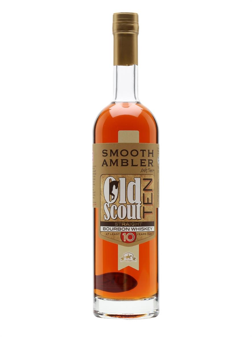 SMOOTH AMBLER OLD SCOUT STRAIGHT BOURBON 10 year old, 50%