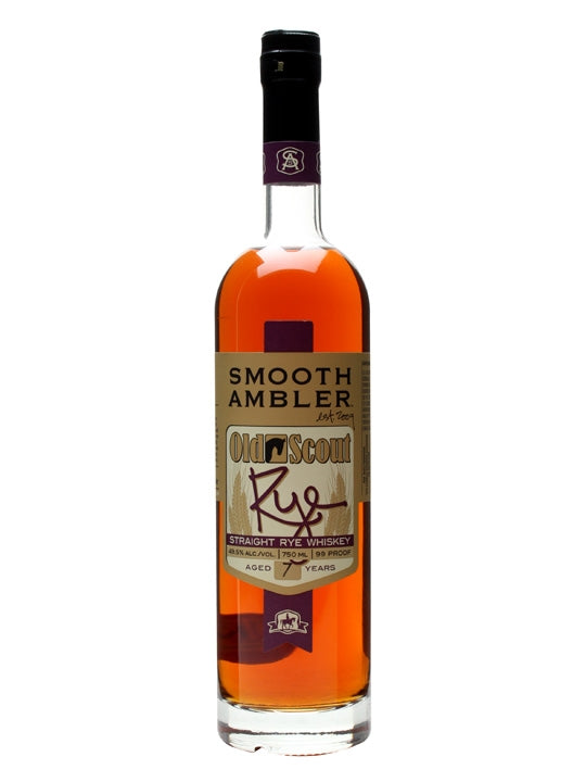 SMOOTH AMBLER OLD SCOUT STRAIGHT RYE 7yo, 49.5%