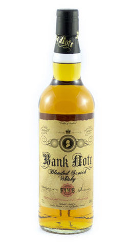 Bank Note 5 year old Blended Scotch Whisky in Hong Kong