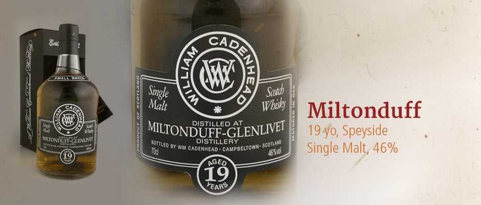 MILTONDUFF Speyside Single Malt Scotch Whisky in Hong Kong, distilled in 1994, bottled in 2013 at 46%