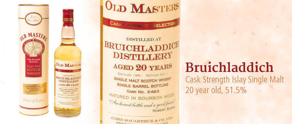 BRUICHLADDICH Islay Cask Strength Single Malt Scotch Whisky in Hong Kong, distilled in 1991, bottled in 2011 at 51.5%