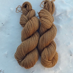 Worsted 3 ply Black Walnut dyed