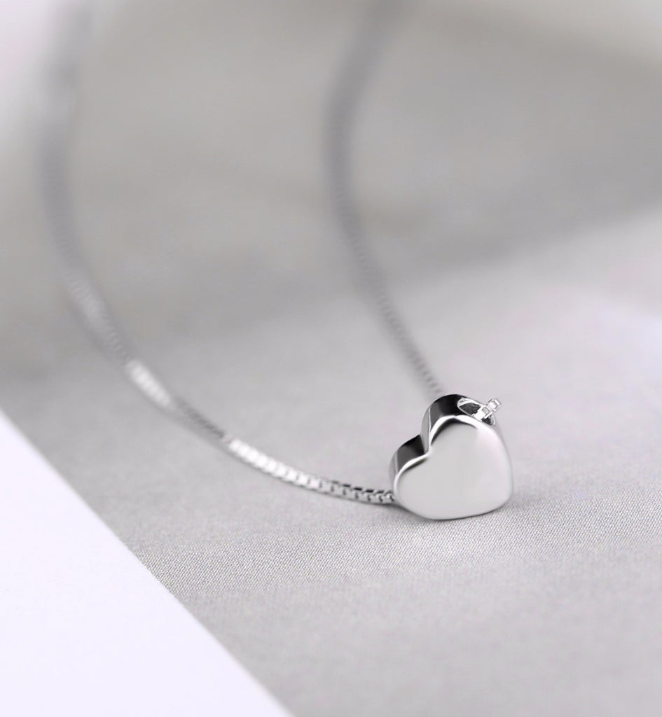 925 Sterling Silver Heart Necklaces