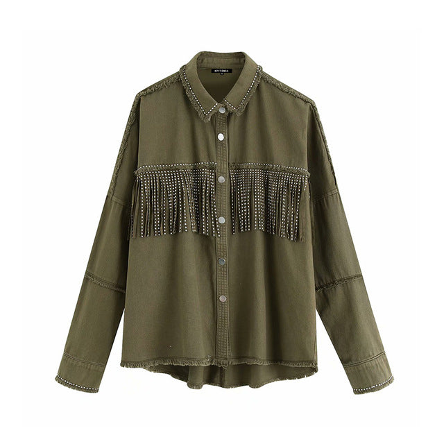 Fringe Beaded Jacket