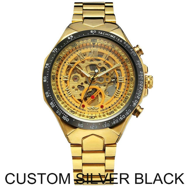Men Mechanical Metal Strap watches