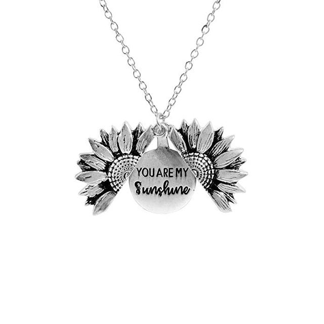 Sunflower Double-layer Metal Pendant