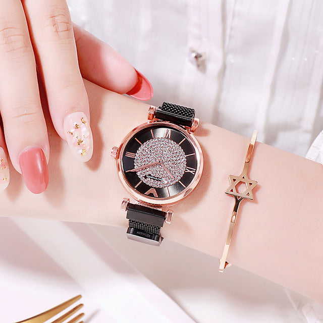 Diamond Rose Gold Ladies Wrist