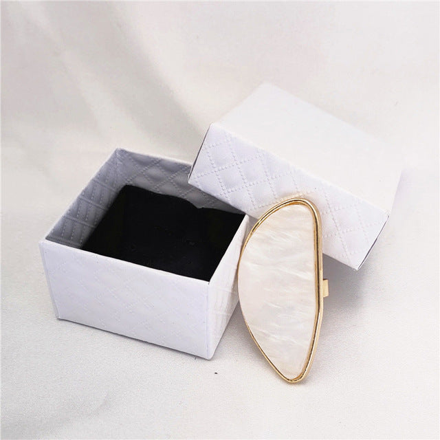 Acetate plate ring