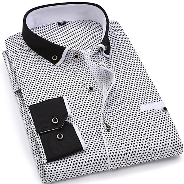 Fashion Print Casual Men Shirts
