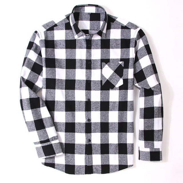Cotton Flannel Men's Shirts
