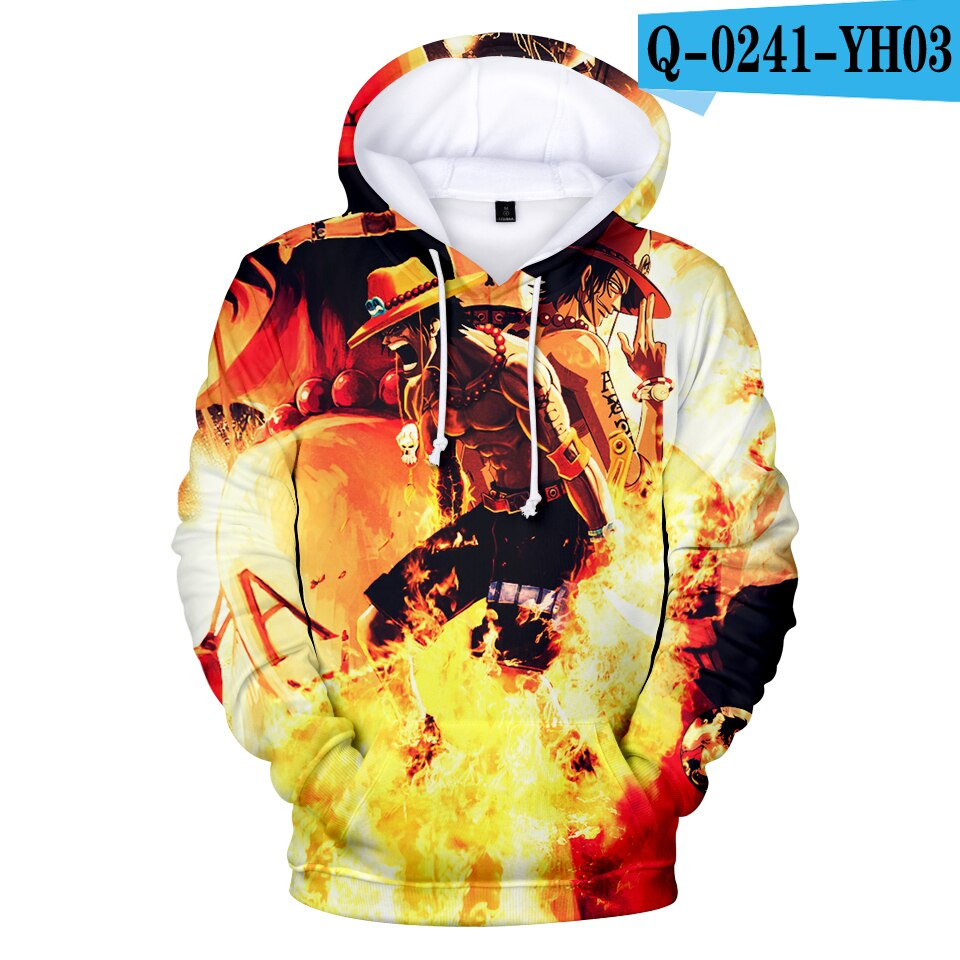 Hot 3D Anime Hoodies Men