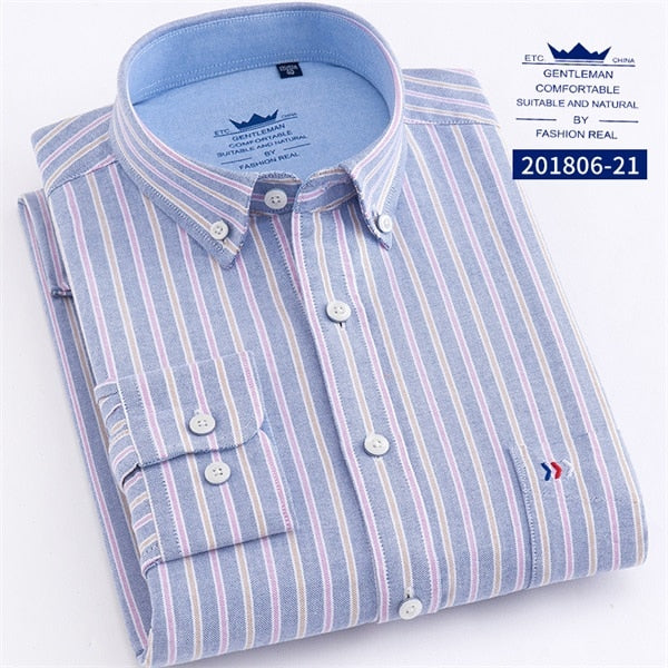 Cotton Stripe Casual  Shirts