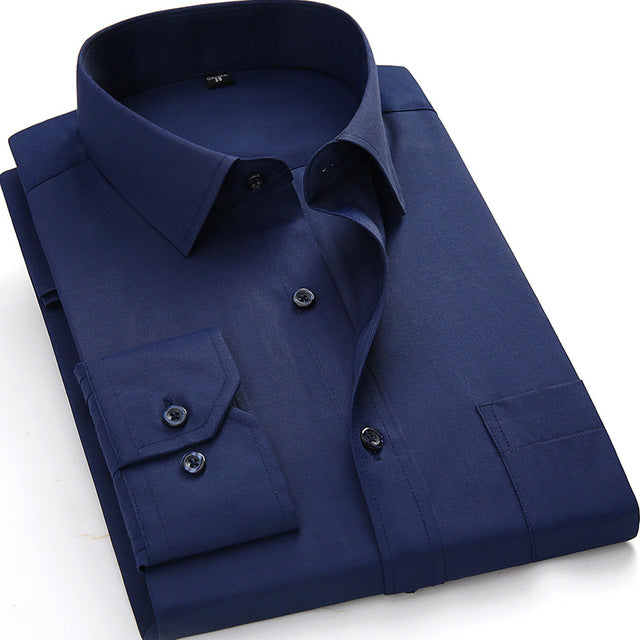Men's Long  Dress Casual Shirt