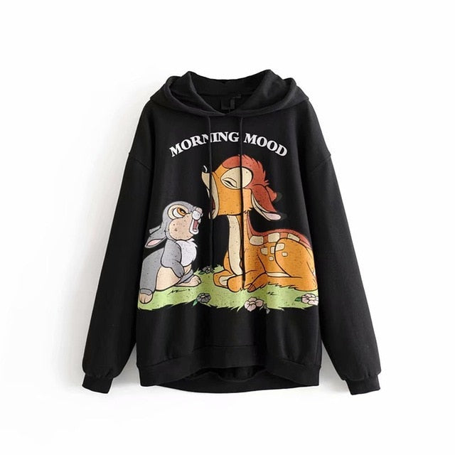 Cartoon Hoodie Women