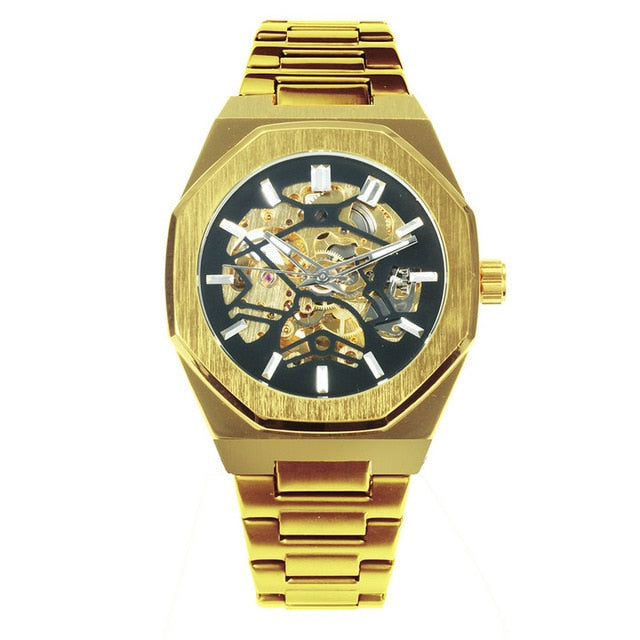 Golden Automatic Watch