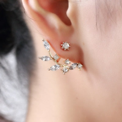 Fashion Charm Crystal Flower Earrings