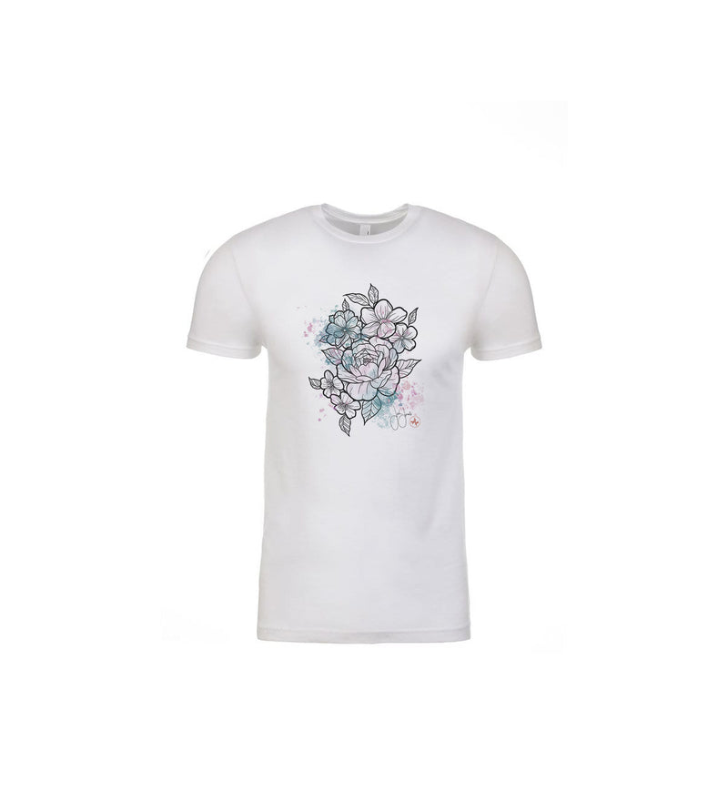Jordan Rose - Flowers in Pastel- T-Shirt