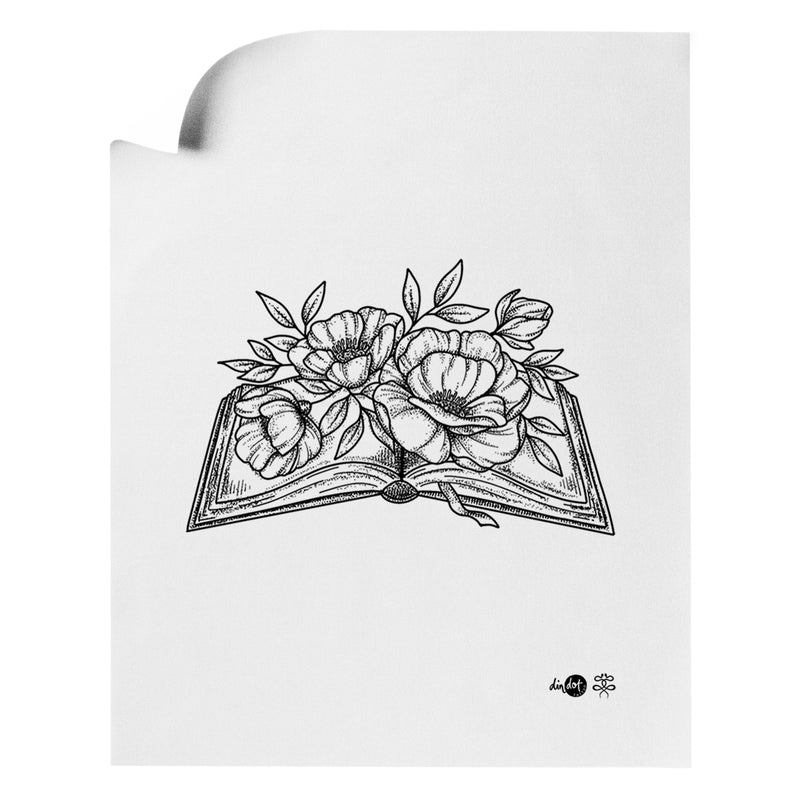 Andrea Din Don - Floral Book - Art Print