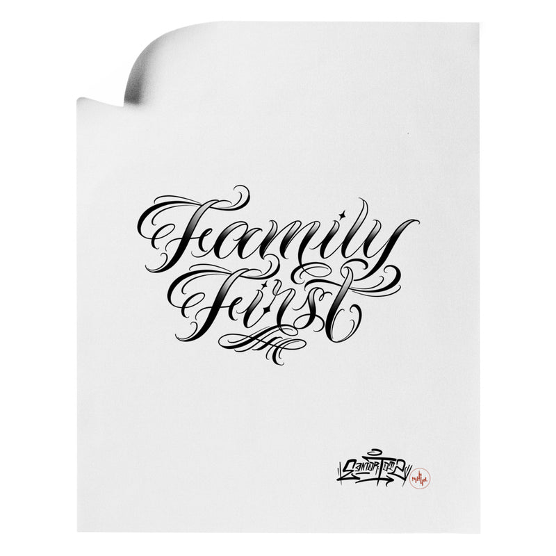 Edmar Ramirez - Family First - Art Print