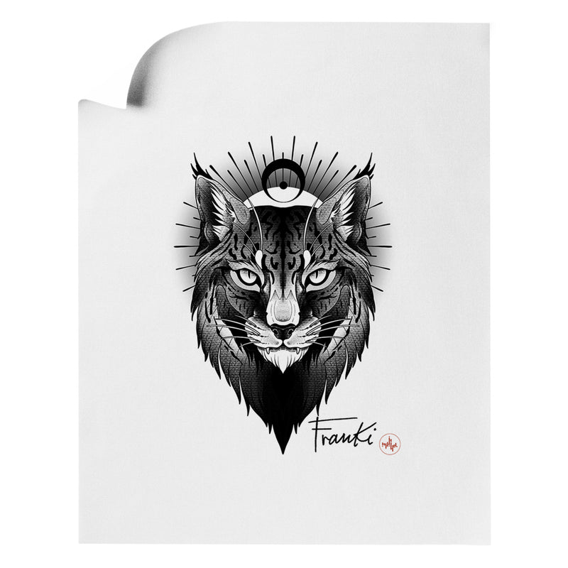 Franki Tattoo - Lynx - Art Print