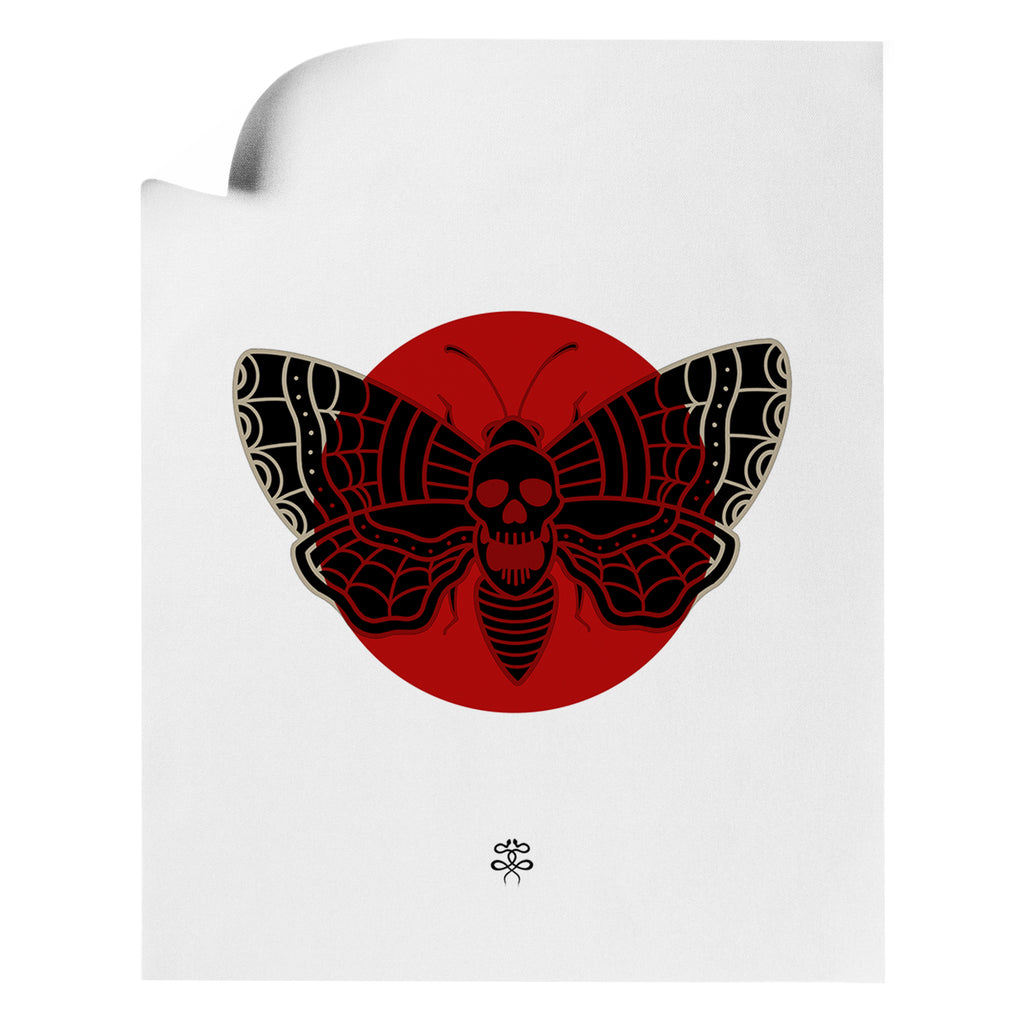 Jordan Campbell - Deaths Web Moth - Art Print