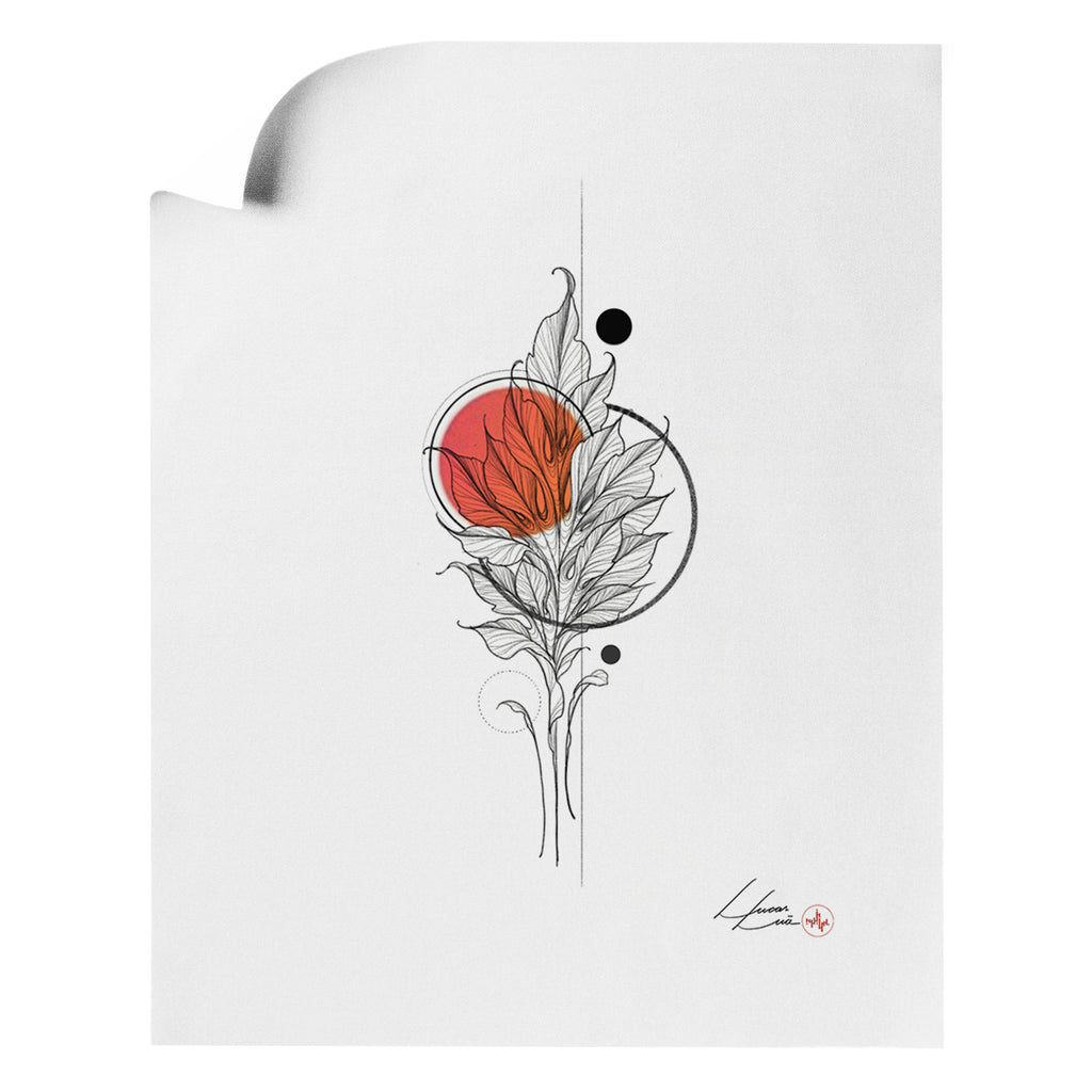 Lucas Lua - Leaf Orange - Art Print