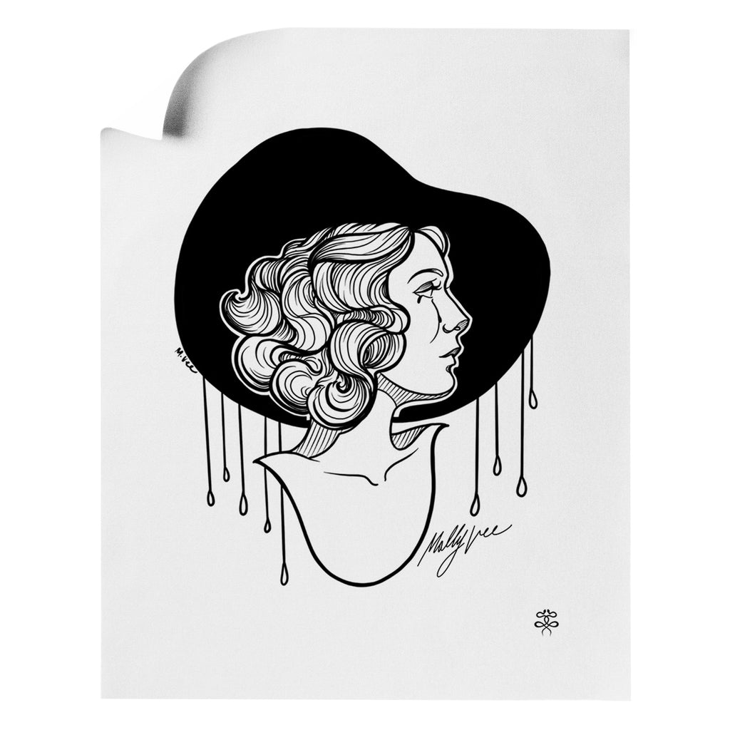 Molly Vee - Crying In The Rain - Art Print