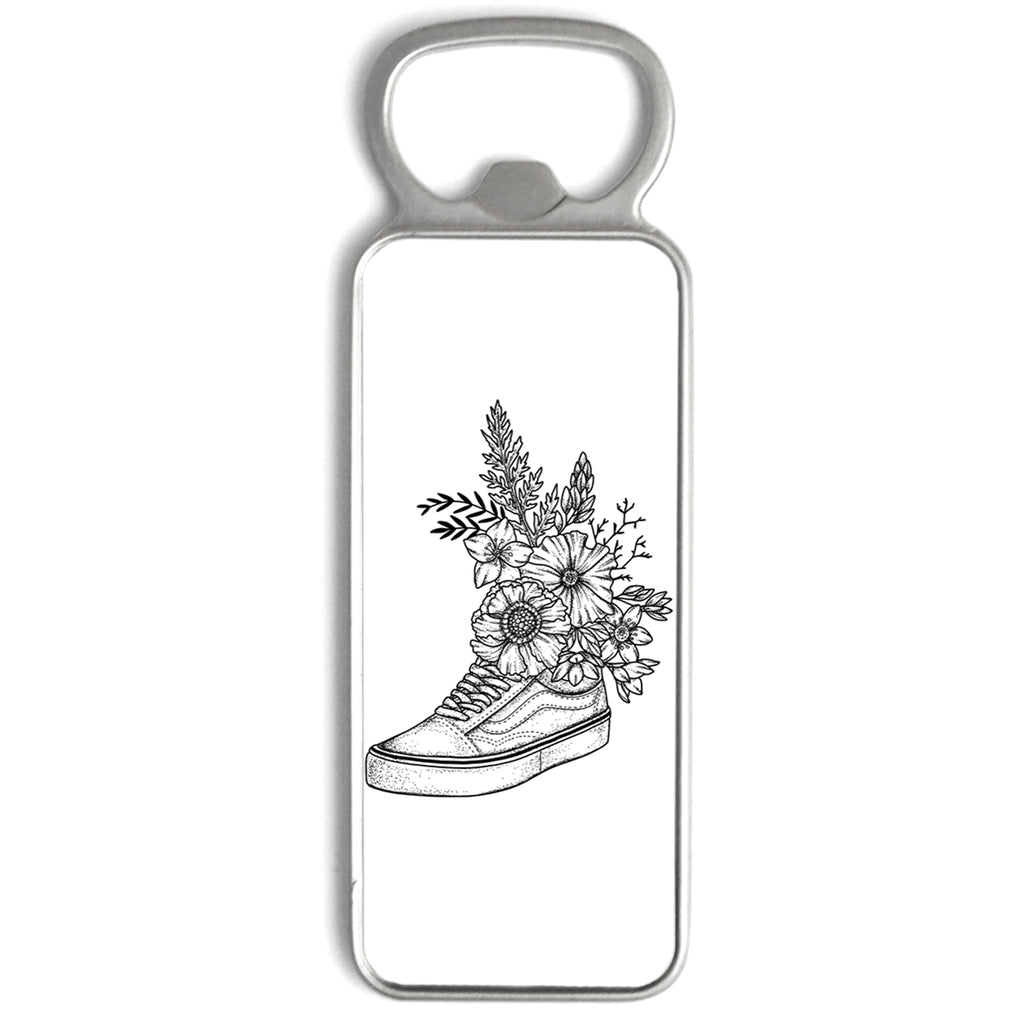 Andrea Din Don - Floral Vans - Bottle Opener