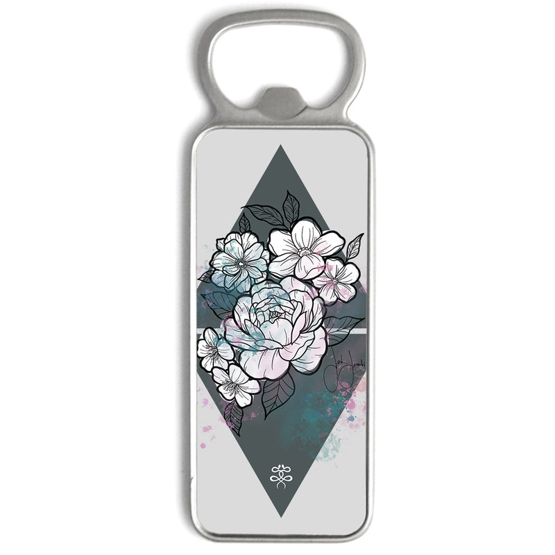 Jordan Rose x Inked Soul - Flowers in Pastel - Bottle Opener