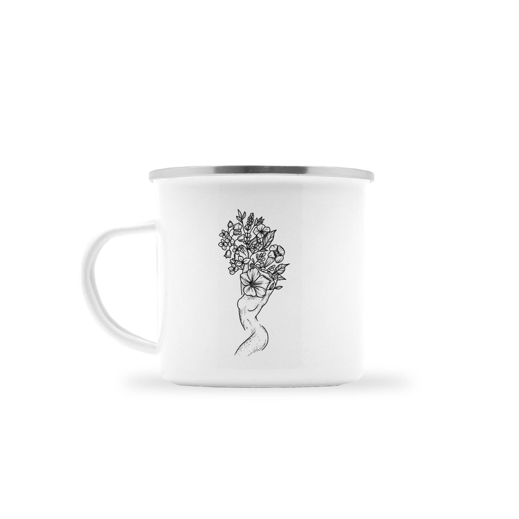 Andrea Din Don - Floral Woman - Camp Mug