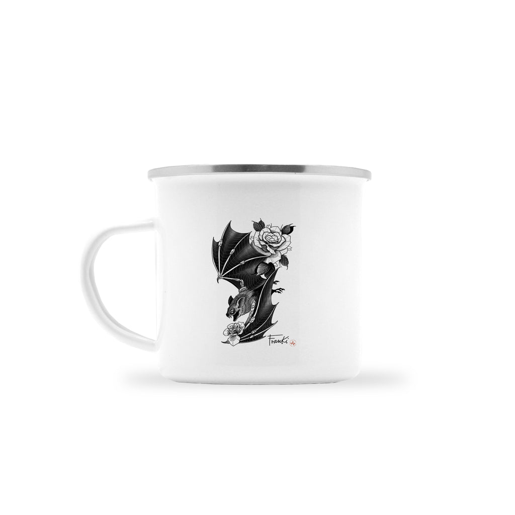 Franki Tattoo - Bat and Roses - Camp Mug