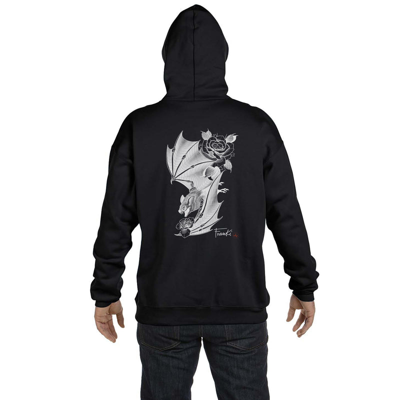 Franki Tattoo - Bat and Roses - Hoodie