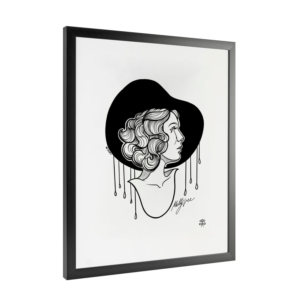 Molly Vee - Crying In The Rain - Framed Art