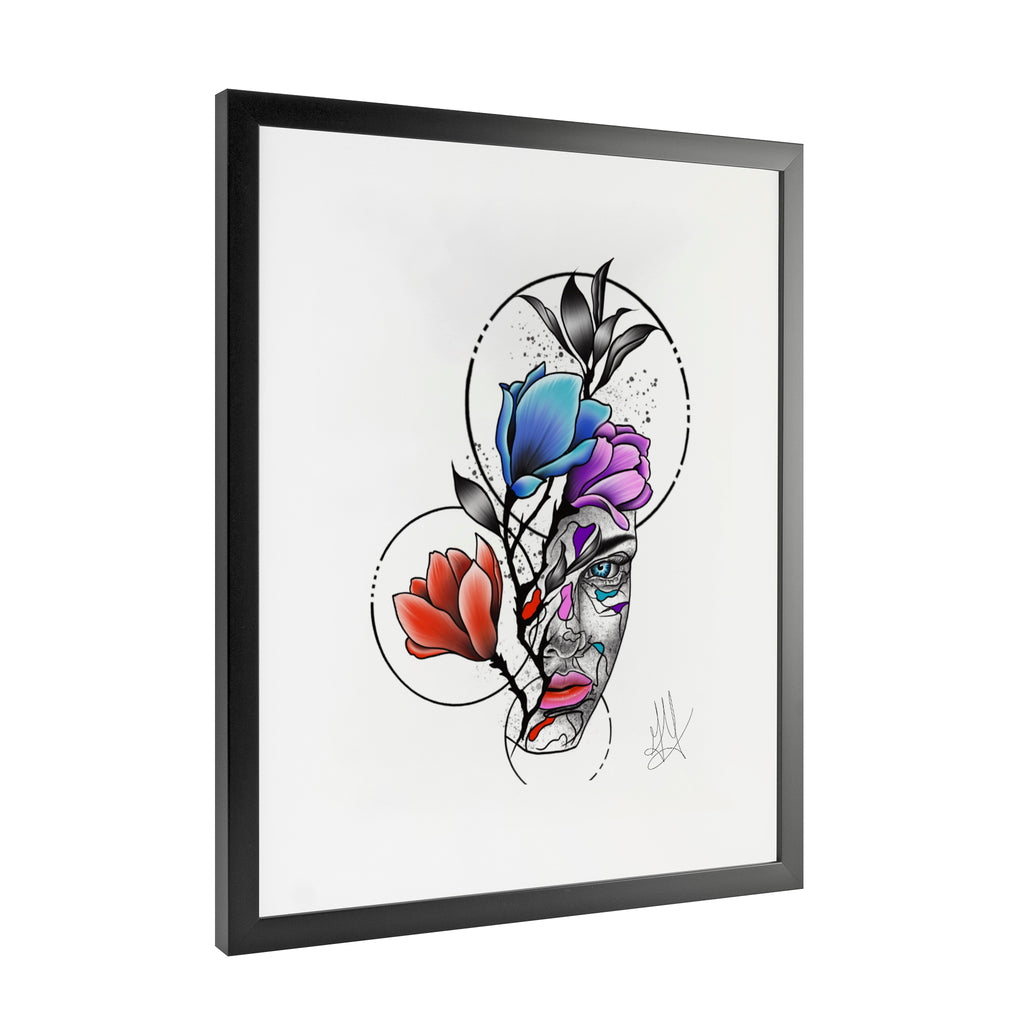 Gady Tattoo - HER - Framed Art