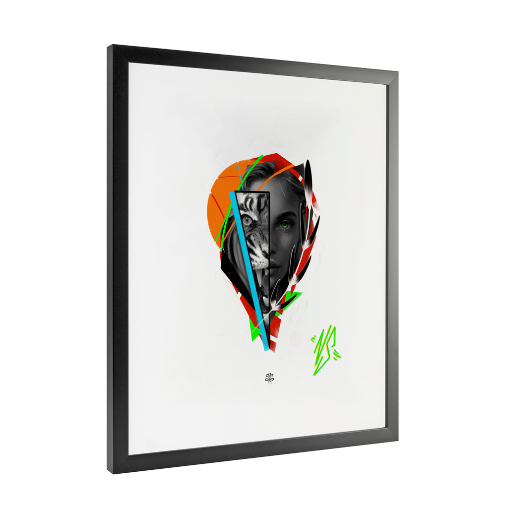 Newschoolenko Max - Beast Inside - Framed Art