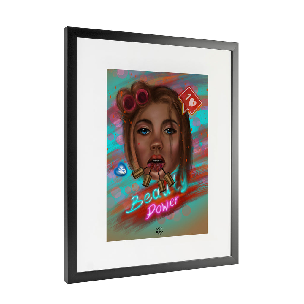 Newschoolenko Max - Beauty Power - Framed Art