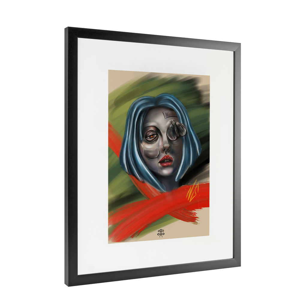 Newschoolenko Max - Iron Girl - Framed Art