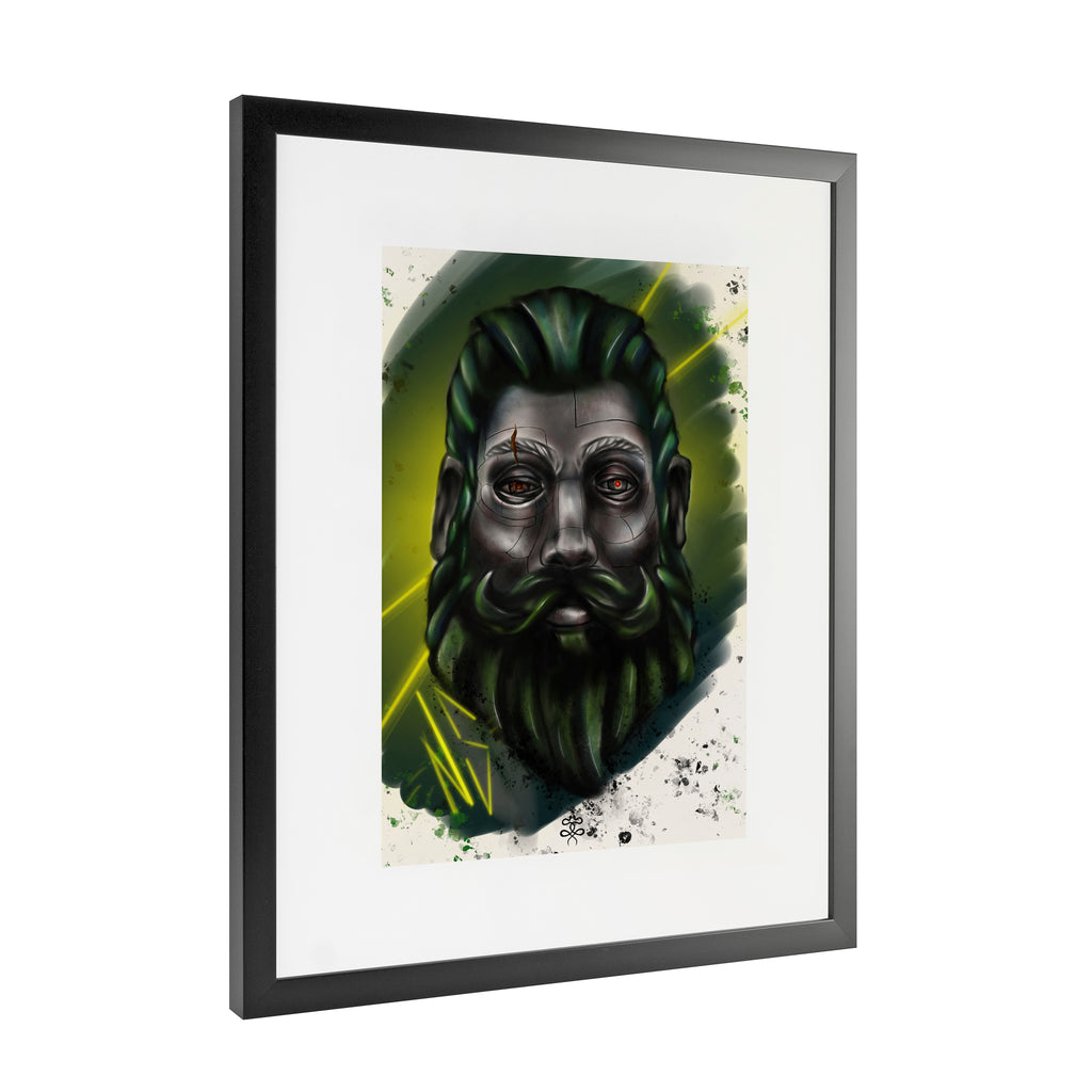 Newschoolenko Max - Woodcutter - Framed Art