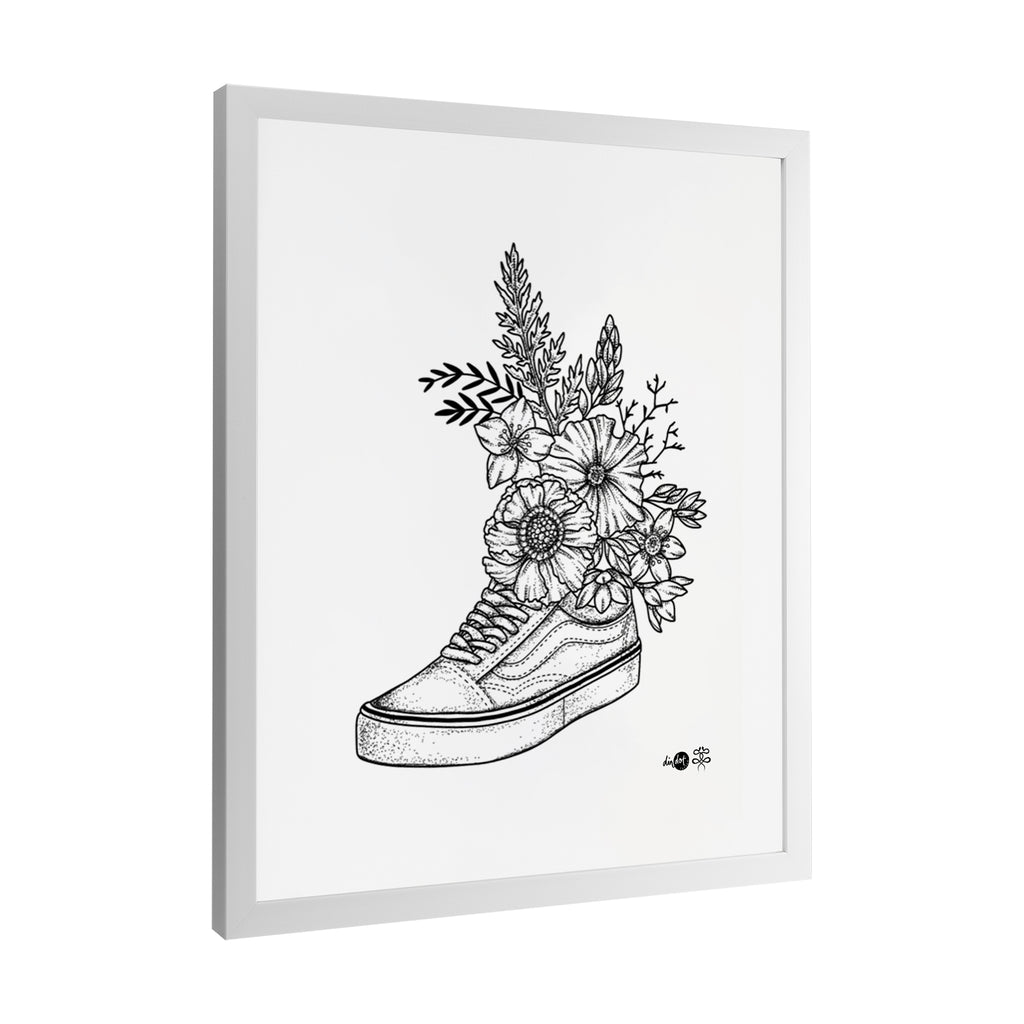 Andrea Din Don - Floral Vans - Framed Art