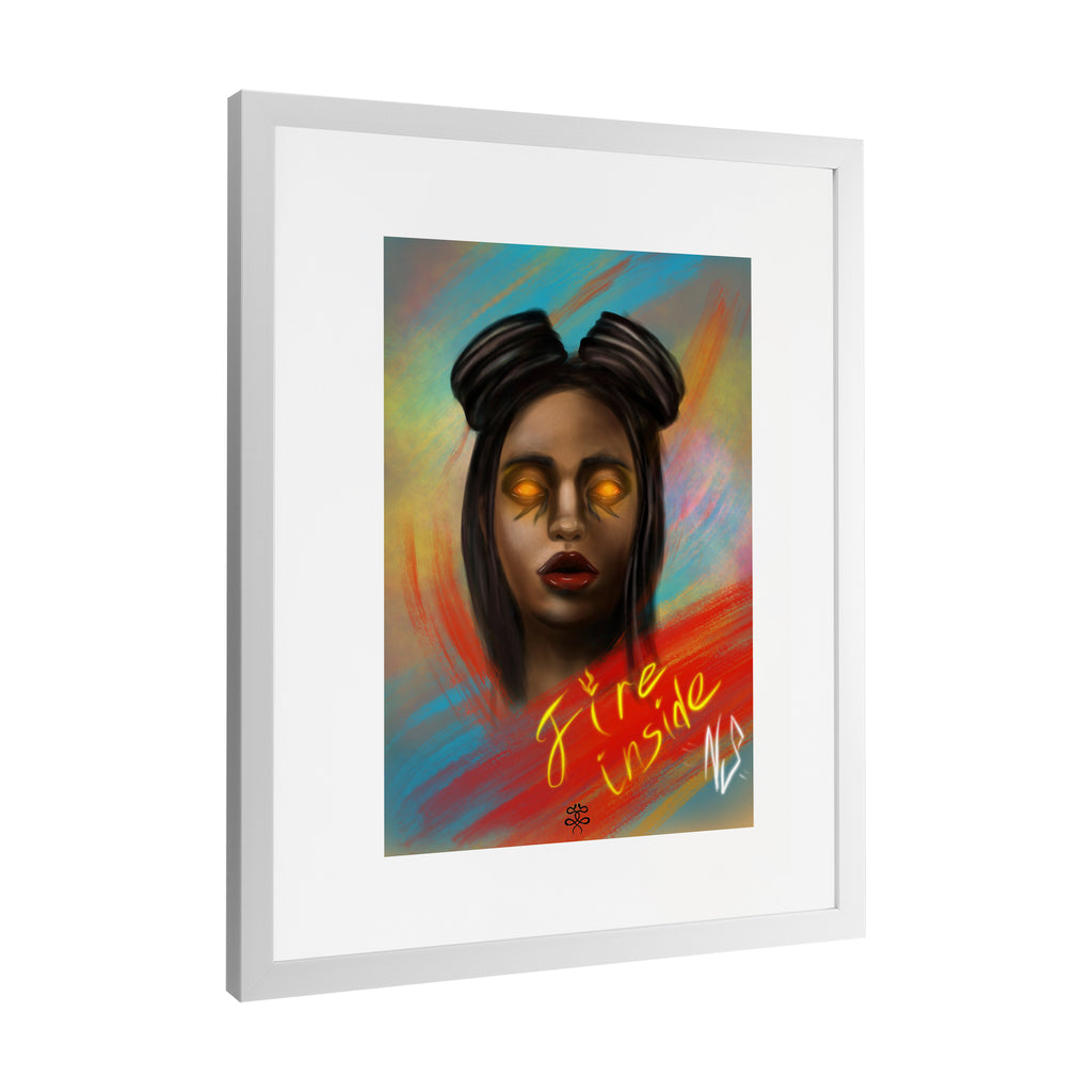 Newschoolenko Max - Fire Inside - Framed Art