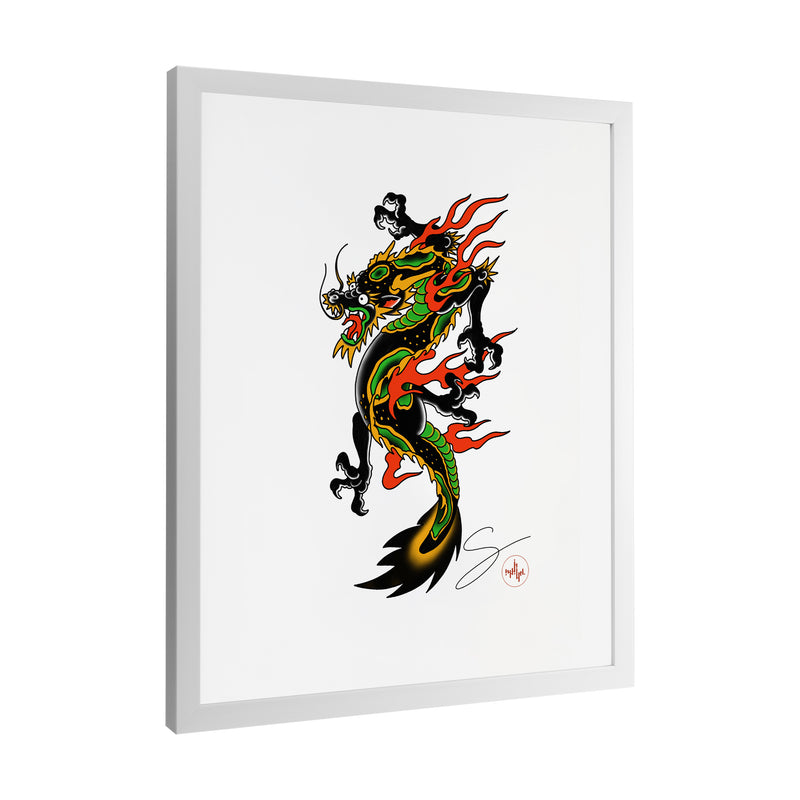 Seth Alexander - Americana Dragon Full - Framed Art