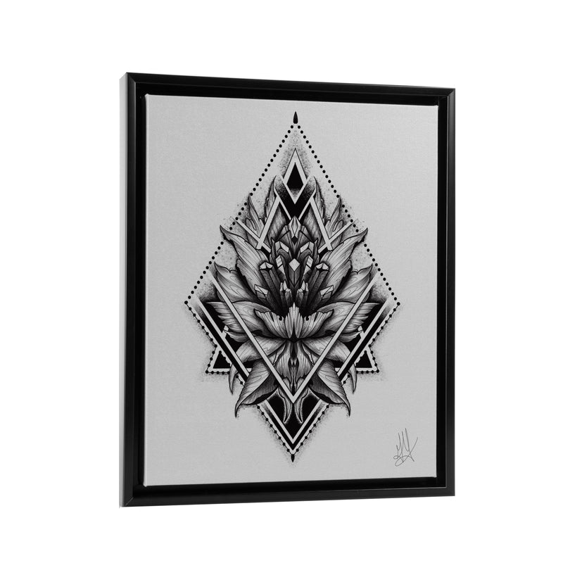 Gady Tattoo - Trilogy - Floating Frame Canvas