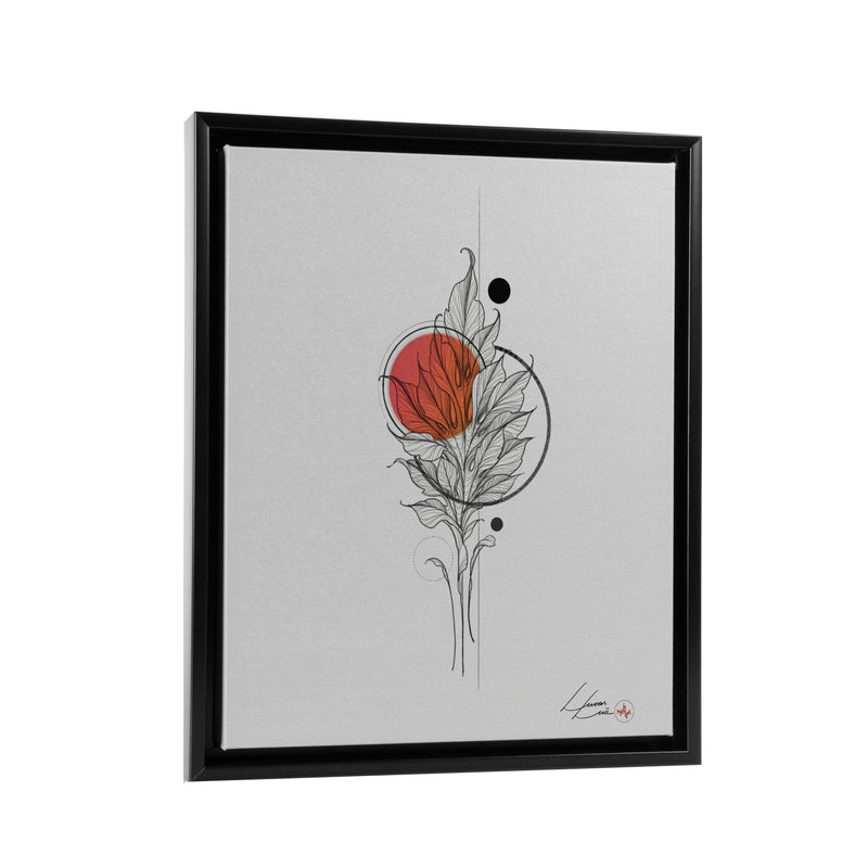 Lucas Lua - Leaf Orange - Floating Frame Canvas