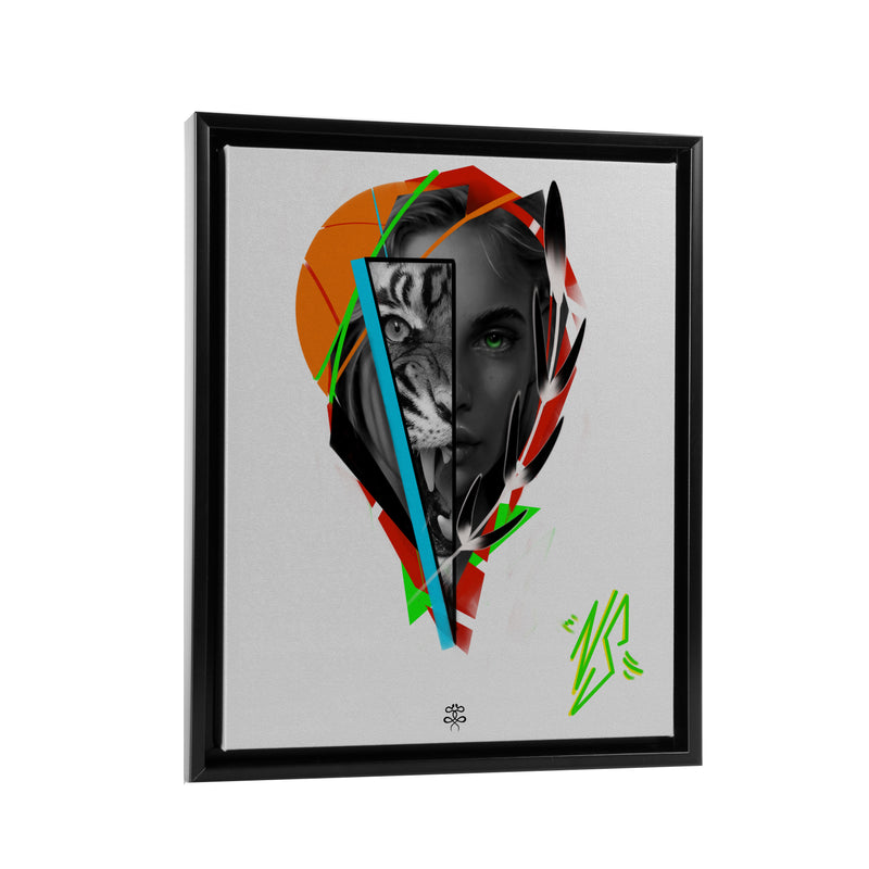 Newschoolenko Max - Beast Inside - Floating Frame Canvas