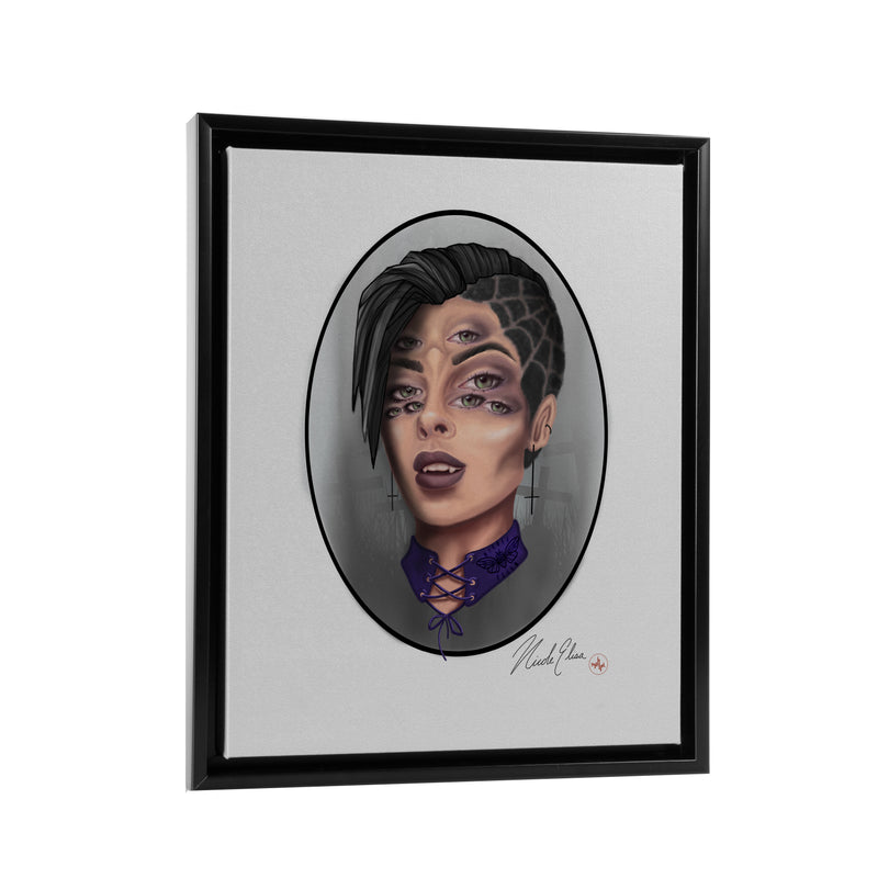 Nicole Elisa - Starry Eyes - Floating Frame Canvas