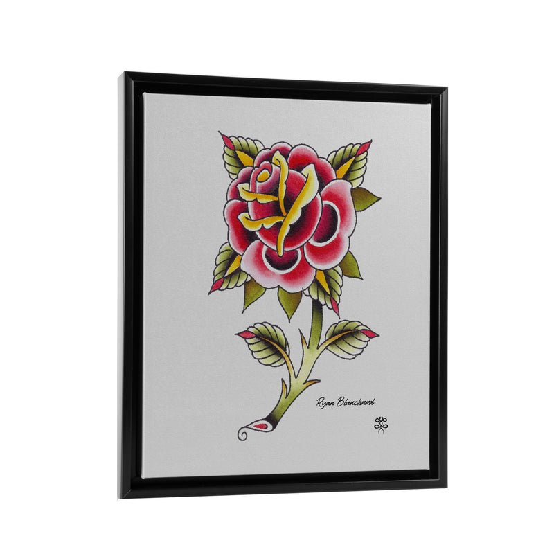 Ryan Blanchard - Lonely Rose - Floating Frame Canvas