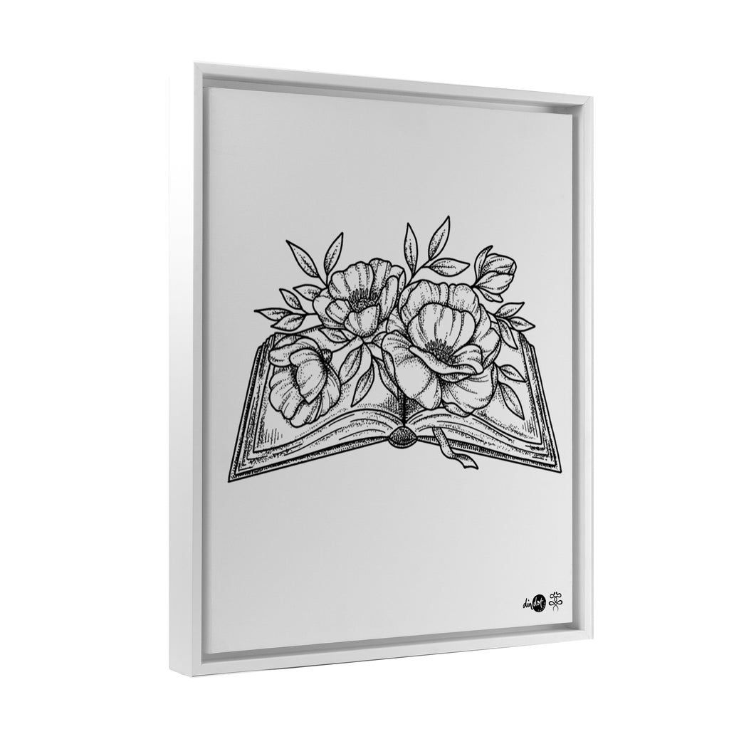 Andrea Din Don - Floral Book - Floating Frame Canvas