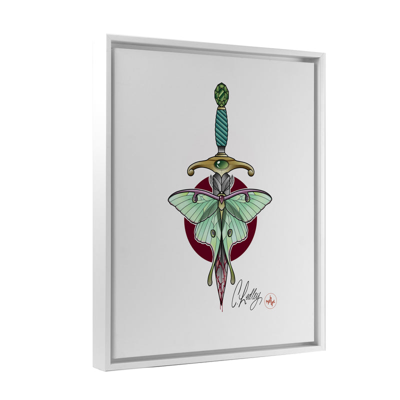 Caleb Ledley - Burdened - Floating Frame Canvas